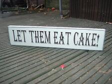 Boda ¡ Que coman pasteles Free Standing signo Shabby Vintage Mesa De Placa