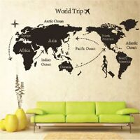 DIY Travel the World Map Removable Waterproof Vinyl Wall Stickers Room Art Decor