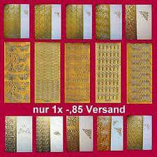 nur 1x € -,85 Versand !!! Stickerbogen - Motive / Ecken - Konturensticker