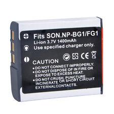 1400mah Camera Battery for Sony NP-BG1 NP-FG1 DSC-H3 DSC-W70 BC-CSGE BC-CSGD W30