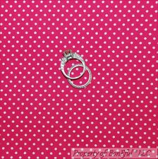 BonEful FABRIC FQ Cotton Quilt Pink White Tiny Small Little Pin Polka Dot Minnie