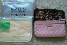 Set of 4 Makeup Avon Beauty Clutch Travel Bags Purse Zipper Bath Body Works NEW