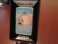 ARCTIC SEAL HARP SEAL PUP STREET CHROME FINISH ZIPPO LIGHTER MINT IN BOX