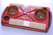 Japanese Bamboo / Wooden Bowl & Chopstick Dinner Set -- KW16 -- On Sale !!