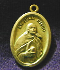 St Juan Diego Medal with Our Lady of Guadalupe Nuestra Senora De Guadalupe