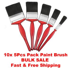 10x 5 Pack Paint Brush Fine Brushes Set Advanced Bristle Decorating DIY Painting