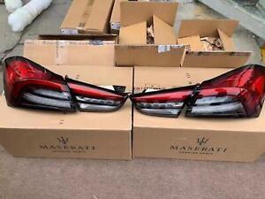 2014 Upgrade to 2021 OEM Maserati Ghibli Complete set of 4 Tail Lights Black