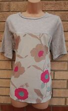 PAPAYA GREY MINT GREEN PINK BEIGE FLORAL SILKY FRONT BLOUSE TUNIC TOP CAMI 20