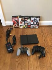 Sony Playstation 2 Slim Console Black SCPH-77001 PS2 Tested Bundle.