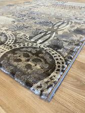 moderner Vintage Teppich Athena Platin gemustert 120 x 170 cm Neuware