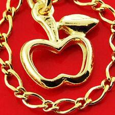 111 GENUINE REAL 14K YELLOW ANTIQUE VERMEIL GOLD AUTHENTIC CHARM BRACELET BANGLE