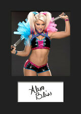 ALEXA BLISS #3 (WWE) Signed (Reprint) Photo A5 Mounted Print - FREE DELIVERY