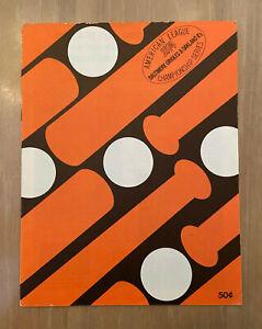 VINTAGE 1974 ALCS OAKLAND ATHLETICS @ BALTIMORE ORIOLES BASEBALL PLAYOFF PROGRAM