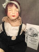 Rare Original Antique 1921 Famlee Doll Composition Cloth Screwed Head Pamphlet