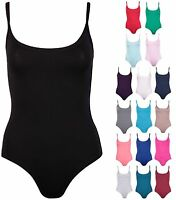 Women Ladies Strappy Sleeveless Stretch Bodysuit Top Swimming wear Beachwear