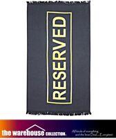 RESERVED XL 100% Cotton Velour 100x180cm Extra Large Pool Beach Surf Bath Towel