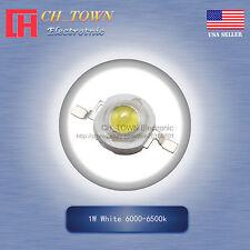 10pcs 1w Watt High Power White 6000 6500k Smd Led Chip Cob Lamp Beads Lights