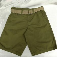 MENS SHORTS SIZE40 ARMY GREEN INCLUDES BELT BY NORTHWEST TERRITORY FREE SHIPPING