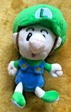 "Super Mario Plush Teddy - Baby Luigi Soft Toy - Size 6"" / 15cm NEW"