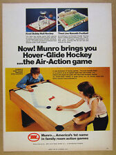 1974 Munro Bobby Hull Hockey & Joe Namath Football Table Games vintage print Ad