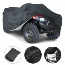 XXL Heavy Duty Waterproof ATV Cover Fit Polaris Honda Yamaha Can-Am Suzuki Black
