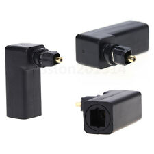 Right Angle TosLink Female to TosLink Male Plug Adapter Audio Connector Optical