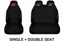 ST Van Seat Covers Protectors Heavy Duty Waterproof - Ford Transit Mk8 / Custom