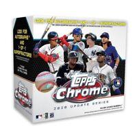 Topps MLB 2020 Chrome Updates Baseball Trading Card Mega Box