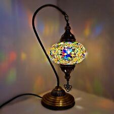 Authentique Turkish Coloré Lampe Lumière Tiffany Style Verre Bureau Ce