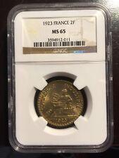 2 Francs CHAMBRES DE COMMERCE 1923 MS65 / FDC65 par NGC