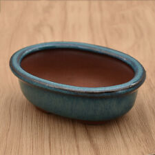 1x Ceramics Flower Pot Succulent Planter Oval Glazed Home Garden Office Decor Us