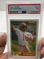 🔥📈 1981 Topps #216 JOE MONTANA HOF 49ERS RC ROOKIE 🔥 PSA 7 NM FootballCard