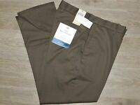 DOCKERS Best Pressed Pants Signature Stretch Khaki Athletic No Iron Dark Pebble