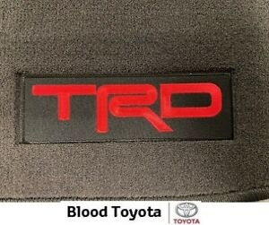 GENUINE Toyota Hilux TRD Carpet Floor Mats - Suit 08/2015+ Auto