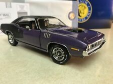 1/24 Franklin Mint In Violet Purple 1971 Plymouth Cuda 340 Coupe B11F675