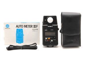 *MINT w/Case* Minolta Auto Meter IIIF III F Digital Light Meter From JAPAN