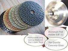 7 Inch Diamond Polishing Pad 10 + Aluminum Backer Granite stone masonry concrete