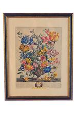 """Robert Furber """"April & June"""" pair of 18th Century Botanical Engravings"""