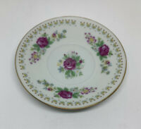 Made In China Saucer With Roses  4.25 Inches Across