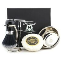 Professional Mens Shaving Set Brass and Aluminum Handle Men's Cleaning Shave Kit