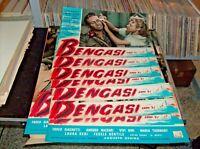 Bengasi Bj 41 Set Komplette 7 Fotobusta Kleine + 1 Rogers 1954 Genina