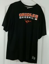 Nike Baltimore Orioles Baseball MLB Black Tee Shirt DRI-FIT Authentic Sz XXL ECU