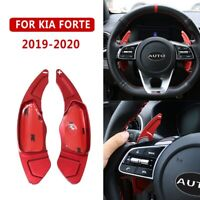 For Kia Forte 2019 2020 Red Inner Steering Wheel Shift Paddle Shifter Cover Trim