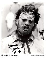 Gunnar Hansen Signed Texas Chainsaw Massacre Leatherface Photo AFTAL
