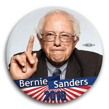 "Bernie Sanders Obama 2016 Progressive President Democrat Button Pin 3"""