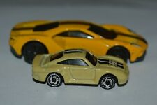 1987 Hot Wheels Micro Racers Porsche 959 Tan Color 1 3/4 Inch Long Malaysia Used