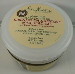 Shea Moisture Jamaican Black Castor Oil Strengthen and Restore Max Hold Gel