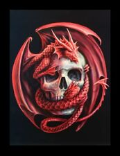 Imagen 3d-bild Anne Stokes Dragón - Dragon and Skull - FANTASY Póster Impresión