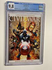 Civil War 1 Variant CGC 9.8 White Pages Marvel Comics