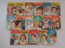 Lot of 17 HARLEQUIN ROMANCE Nurse Doctor Red Edge 50 Cents 1960s - 1970s